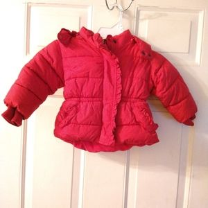 Baby Gap hooded pink puffy coat